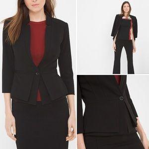 NWOT White House Black Market Peplum Jacket Blazer